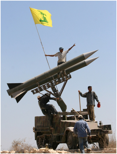 Iran supplies the rockets to Hezbollah which threaten Israel.